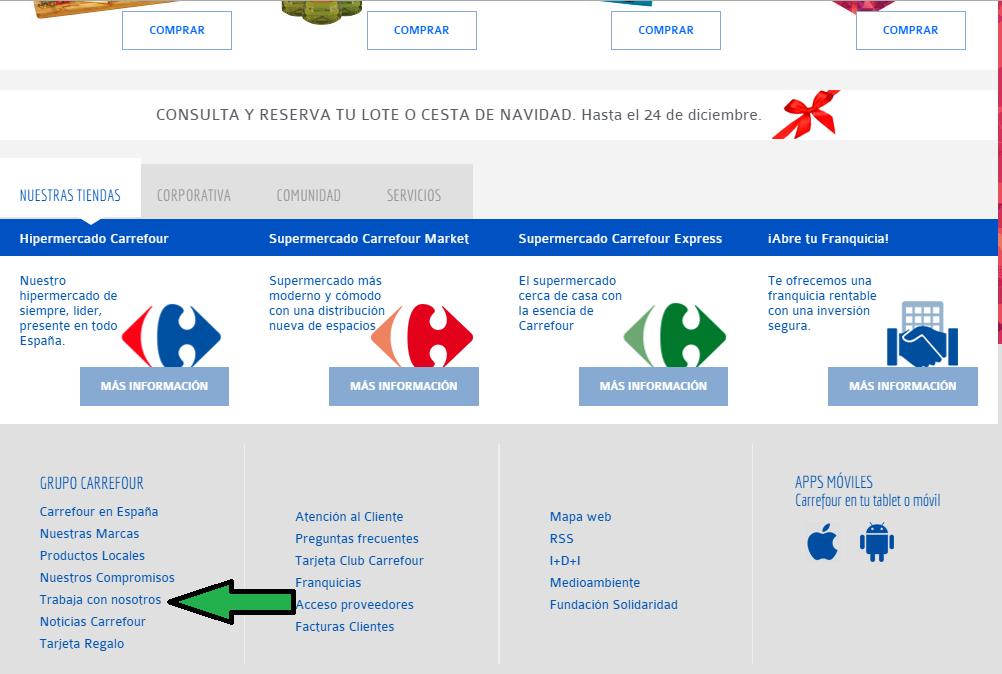 Enviar currciculum a Carrefour