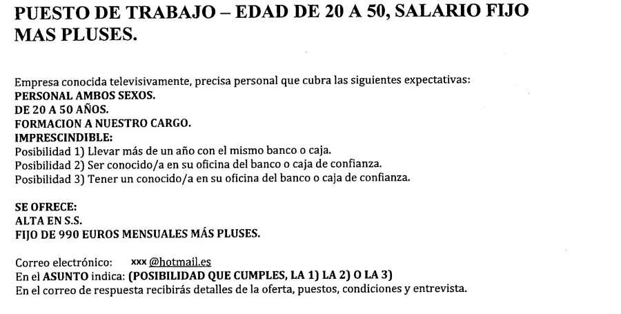 Falsa Oferta Empleo