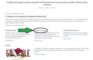 trabajar e google acceso