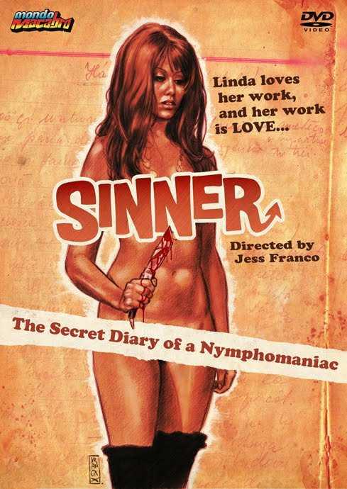 """""""Diario íntimo de una Ninfómana"""" (1972), una de sus tantas películas entre el terror y el erotismo."""