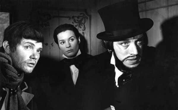 Ingrid Thulin y Max von Sydow en El rostro (1958)