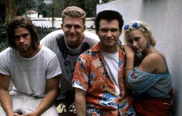 Con Chris Penn, Christian Slater y Patricia Arquette en Amor a quemarropa (1993)