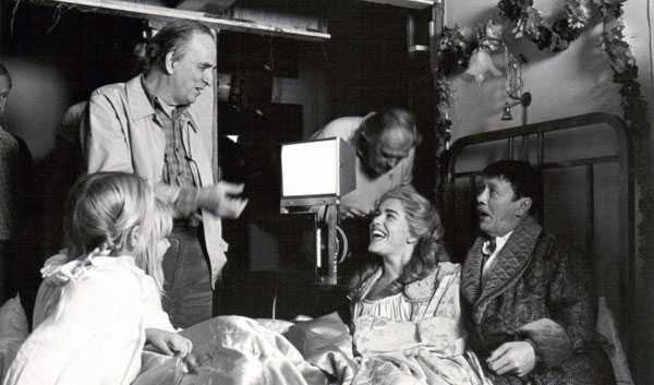 Bergman en el rodaje de Fanny y Alexander (1982)