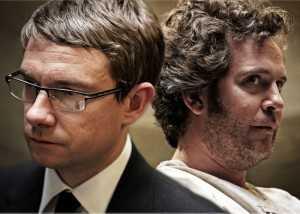 """Martin Freeman y Tom Hollander en """"The Voorman Problem""""."""