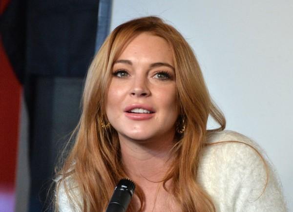 Lindsay Lohan Press Conference At Social Film Loft - 2014 Park City
