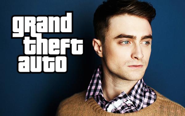 """Daniel Radcliffe como estrella en la película de """"Grand Theft Auto"""""""