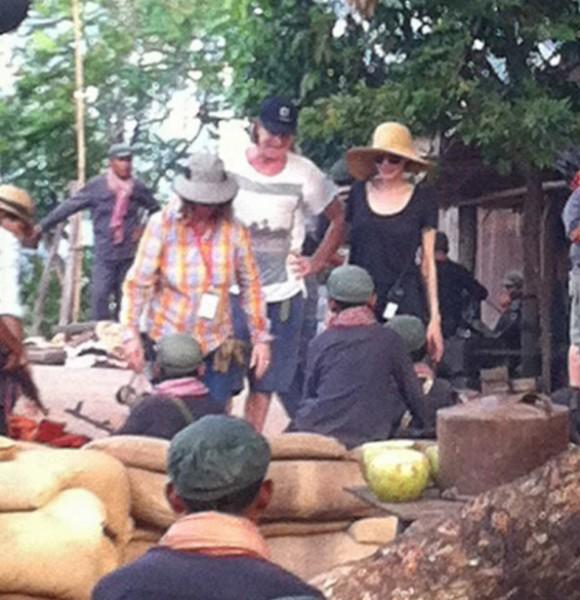 Angelina Jolie filming in Cambodia