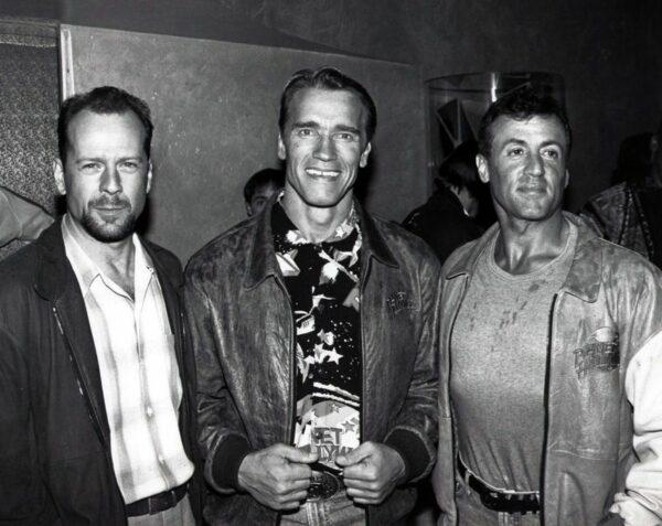 Stallone comparte un fotón de hace 30 años con Arnold Schwarzenegger y Bruce Willis