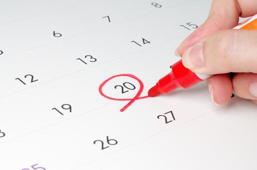 calendario del contribuyente delcaracion de la renta