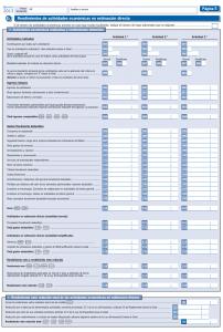 Rendimientos Actividades Economica Estimacion Directa en el IRPF