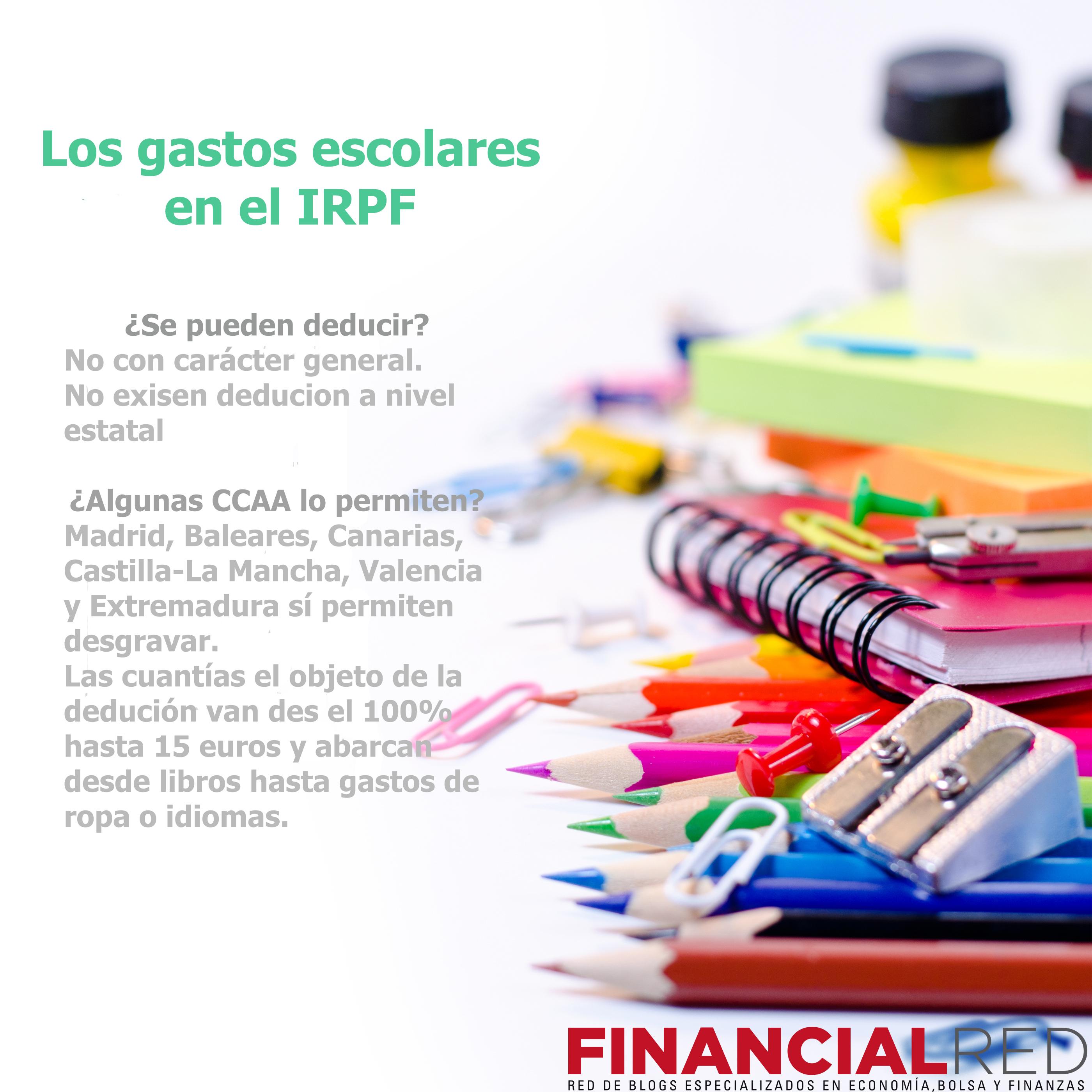 Deduccion por gastos escolares en el IRPF