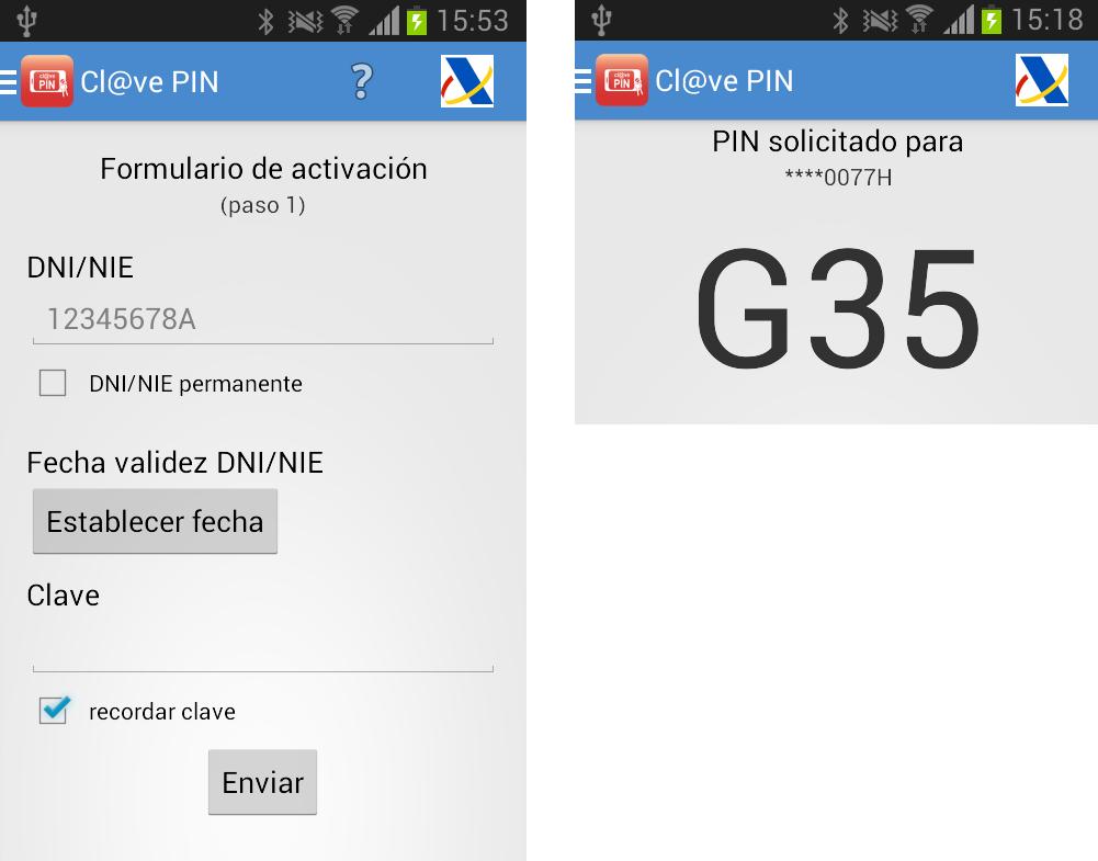 App para móvil del sistema clave