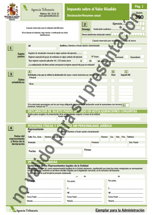 Form 303. VAT. Self-assessment. - Formalities - Electronic ...