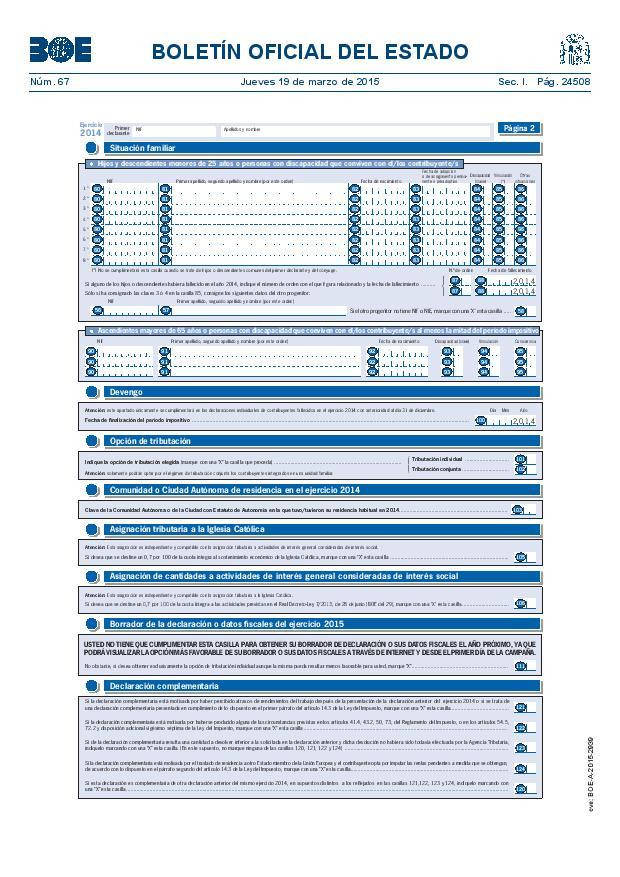 Modelo 100 Renta 2014 pagina 2