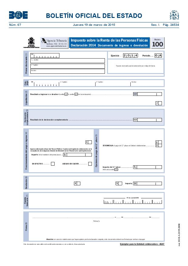 Modelo 100 Renta 2014 pagina 28