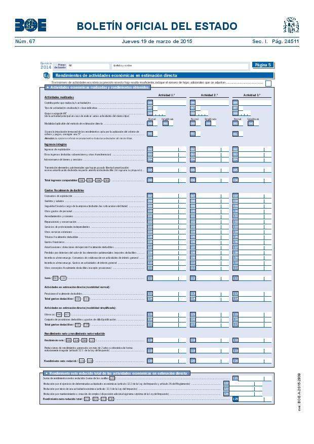 Modelo 100 Renta 2014 pagina 5