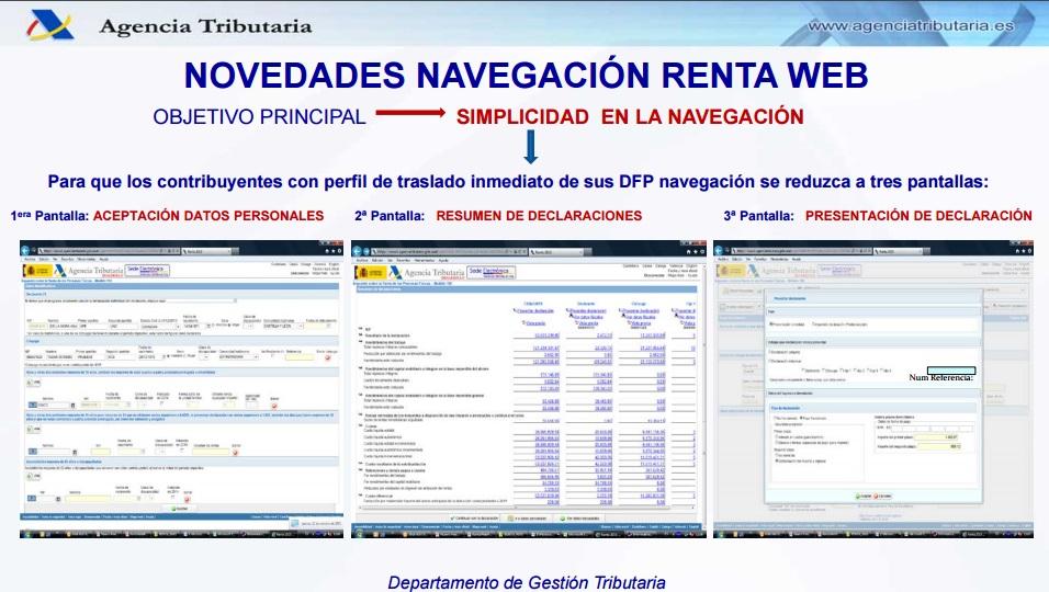 Navegación en renta web AEAT