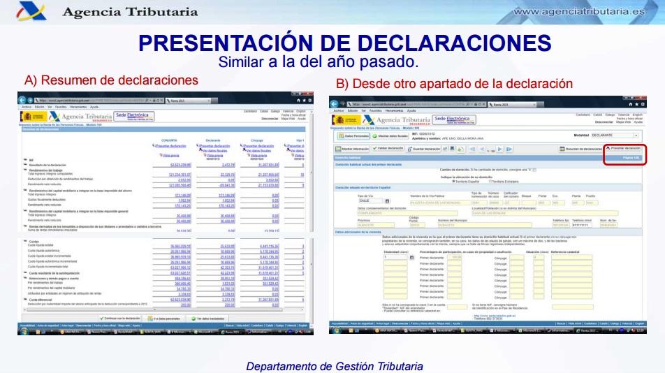 Presentación online de la declaración de la renta 2015