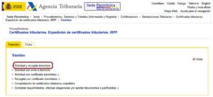 Expedicion de certificados tributarios