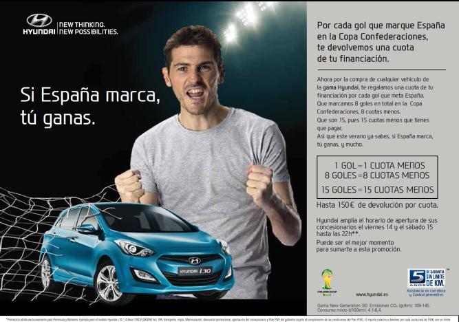 hyundai promocion espana copa confederaciones