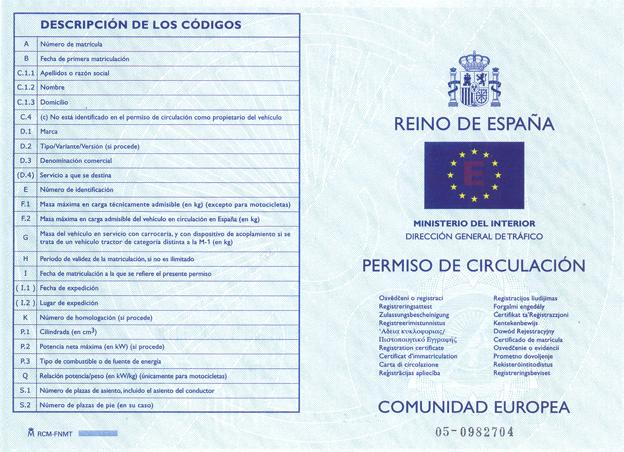 nuevo permiso circulacion españa