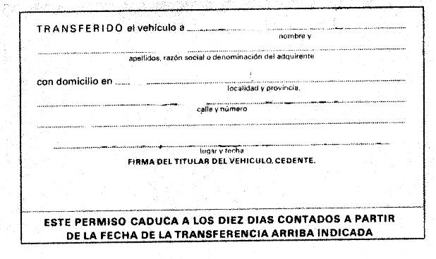 transferencia coche