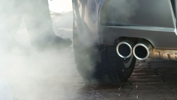 Exhaust pipe of the automobile and waste gases.