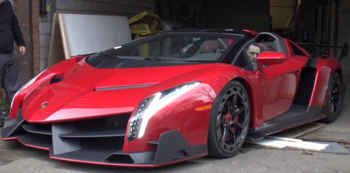 -5.0 Million Lamborghini Veneno Roadster On The Road    YouTube