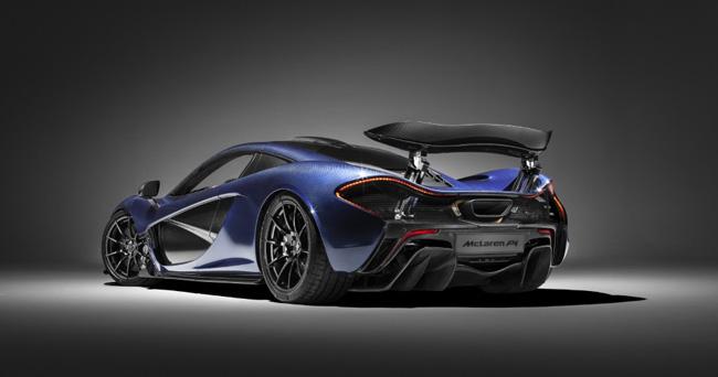 Un McLaren P1 con fibra de carbono vista para el Salón de Ginebra
