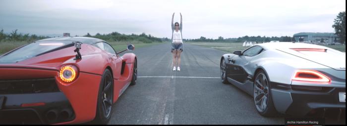 Brutal V�deo: un Ferrari LaFerrari contra un Rimac Concept_One