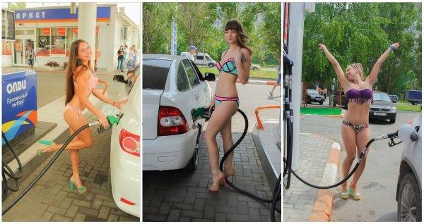 El gasto del gas y la gasolina para 100 km gbo 4