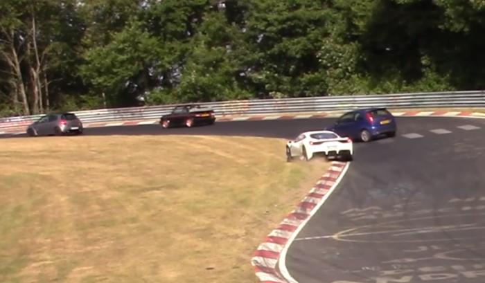crazy-ford-fiesta-almost-crashed-with-ferrari-nordschleife-nurburgring-touristenfahrten-youtube