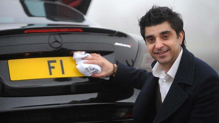 F1: una matrícula que vale millones de euros