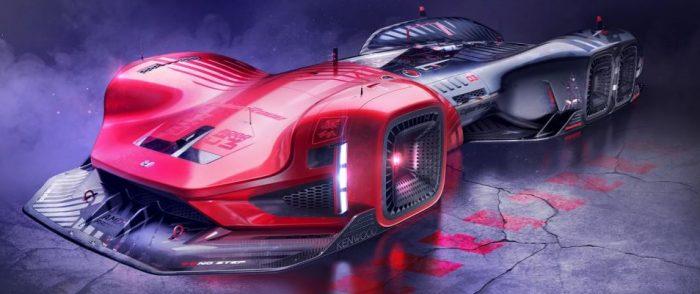 Honda CyberRace: el coche de carreras del año 2088.