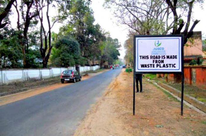 Carreteras de plástico, la idea revolucionaria que llega de la India
