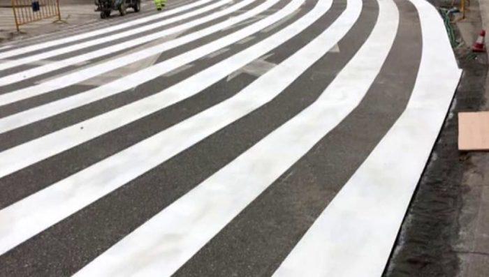 El paso de cebra más grande de España
