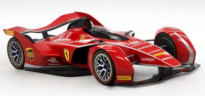 El monoplaza de Ferrari para la Formula E