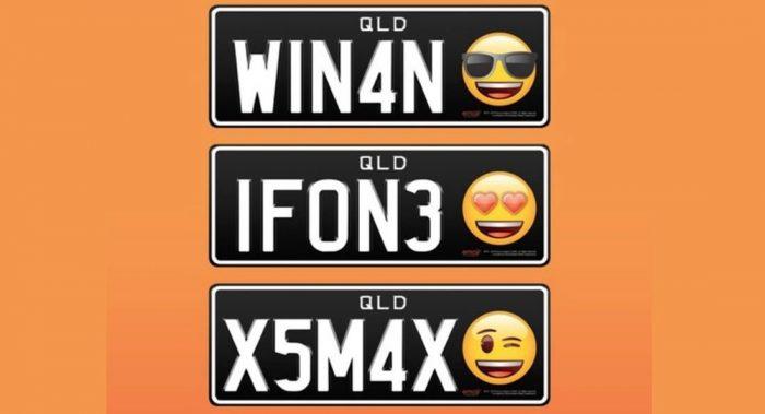 Australia permite el uso de emojis en las matrículas de los coches