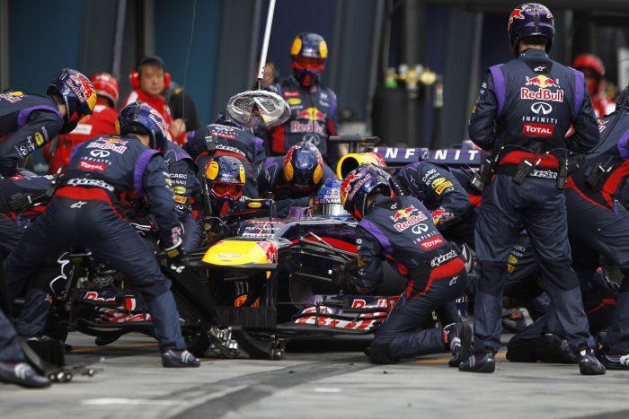 Vídeo: el cambio de neumáticos de Red Bull Racing en sólo 1,88 segundos