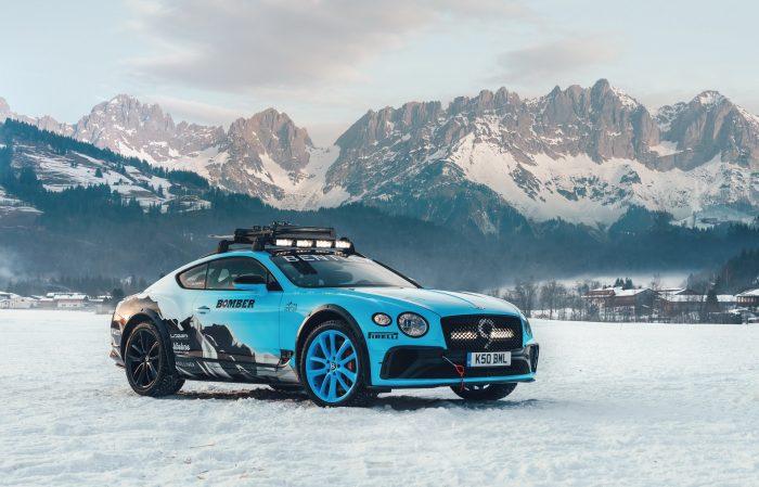 Bentley Continental GT, un monstruo sobre el hielo