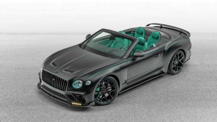 Bentley Continental GT V8 Cabrio by Mansory: fibra de carbono + cuero verde