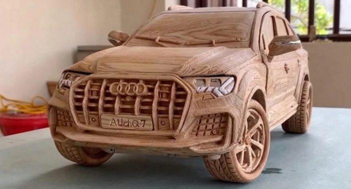 Un Audi Q7 hecho de madera (vídeo)