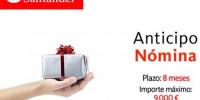 Santander anticipo de nomina