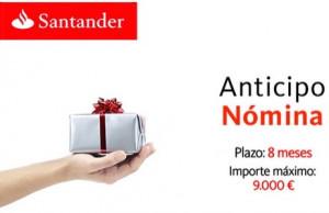 Anticipo Nómina del Banco Santander