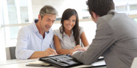 People meeting in real-estate agency