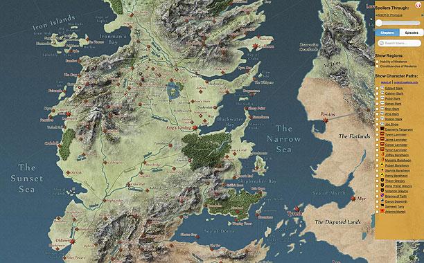Desembarco Del Rey Mapa.Os Presentamos El Mapa Interactivo De Juego De Tronos