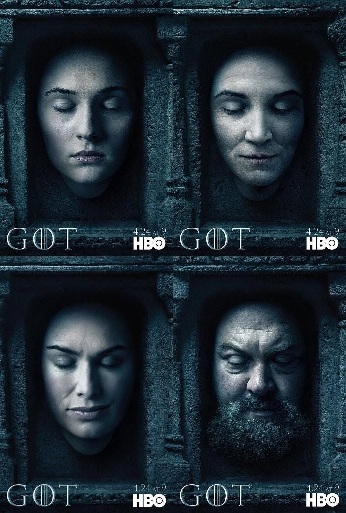 Todos Los Posters De La Sexta Temporada De Juego De Tronos Series Adictos