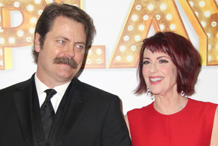 Mandatory Credit: Photo by Carolyn Contino/BEI/REX/Shutterstock (4189755x) Nick Offerman and Megan Mullally 'It's Only A Play' opening night on Broadway, New York, America - 09 Oct 2014