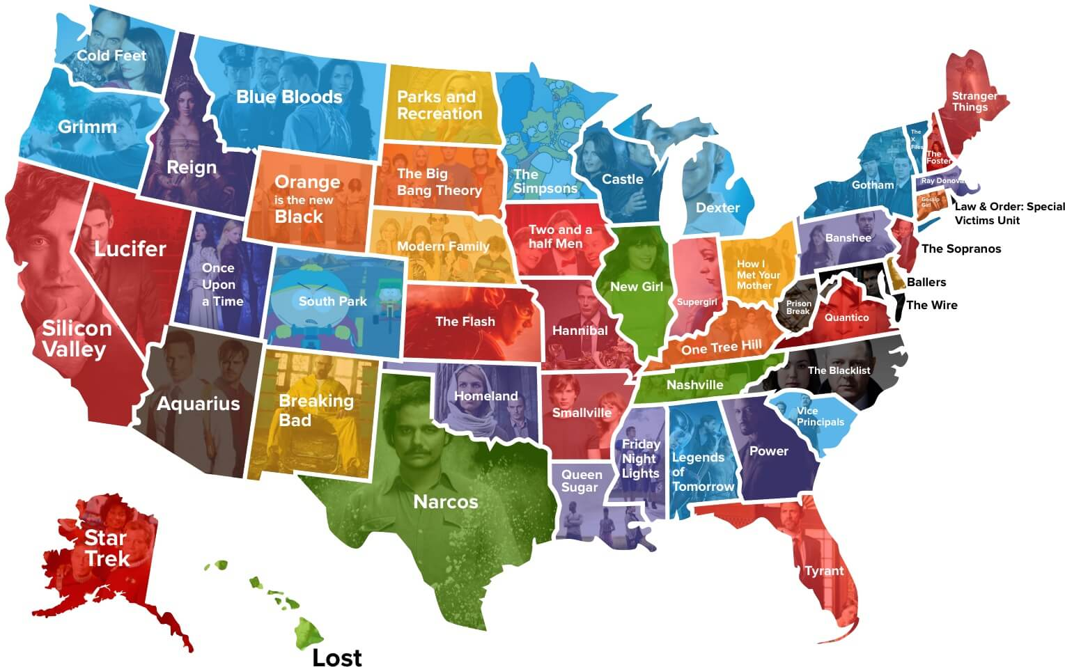 Un estudio revela cuáles son las series favoritas en Estados Unidos ...