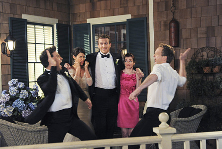 """""""Last Forever Parts One and Two"""" —Ted finally finishes telling his kids the story of how he met their mother, on the special one-hour series finale of HOW I MET YOUR MOTHER, Monday, March 31 (8:00-9:00 PM, ET/PT) on the CBS Television Network.   Pictured: Josh Radnor as Ted, Cobie Smulders as Robin, Jason Segel as Marshall, Alyson Hannigan as Lily, and Neil Patrick Harris as Barney. Photo: Ron P. Jaffe/Fox © 2014 Fox Television. All rights reserved"""